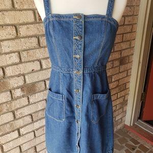 Old Navy blue denim button up dress size 4